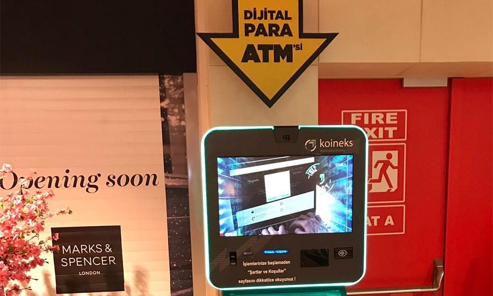 Türkiye'nin İlk Blockchain ATM'si koineks