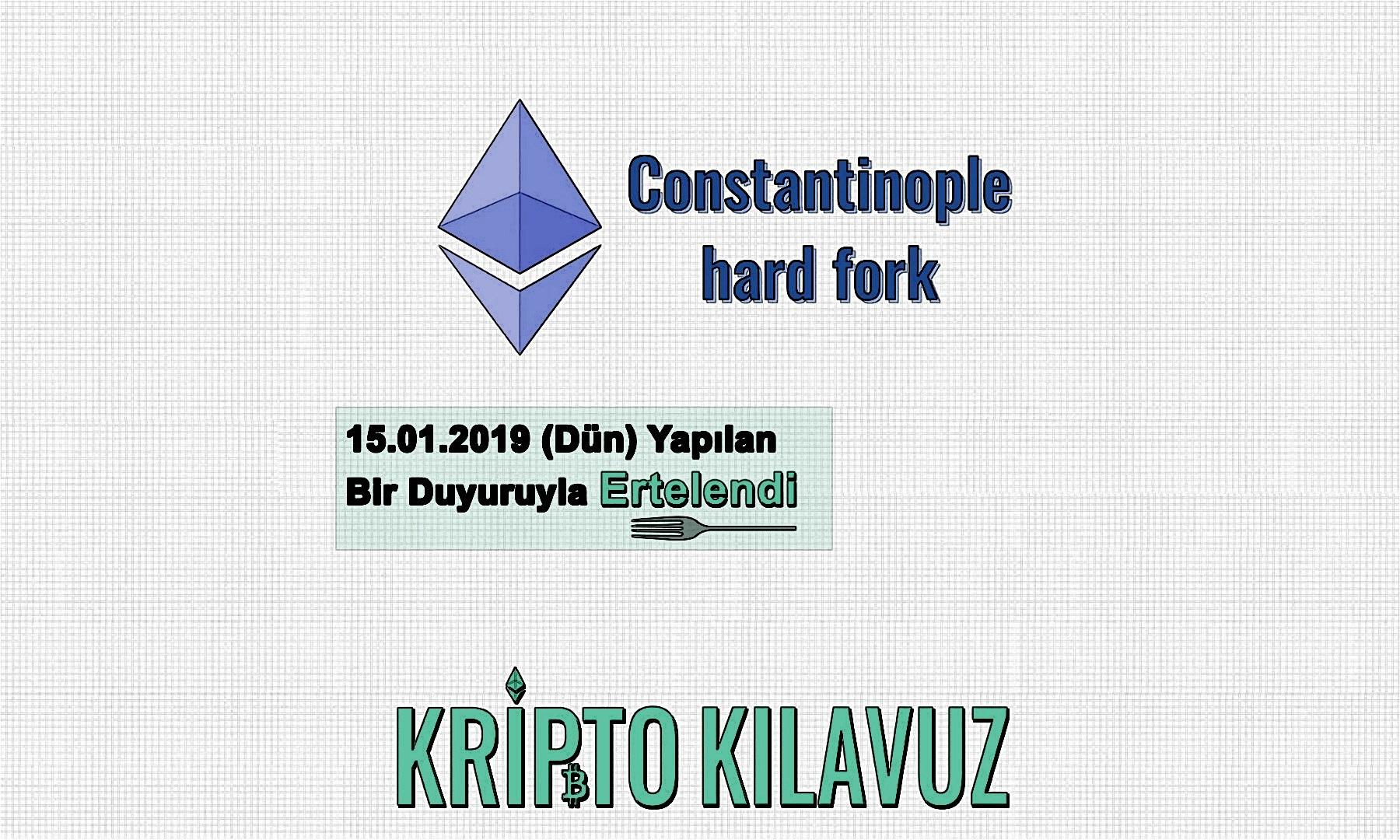 Constantinople Forku Şimdilik Ertelendi