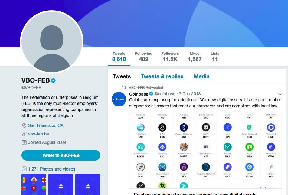 Hacker'lar, Twitter da Sahte Coinbase Hesabı Açtılar
