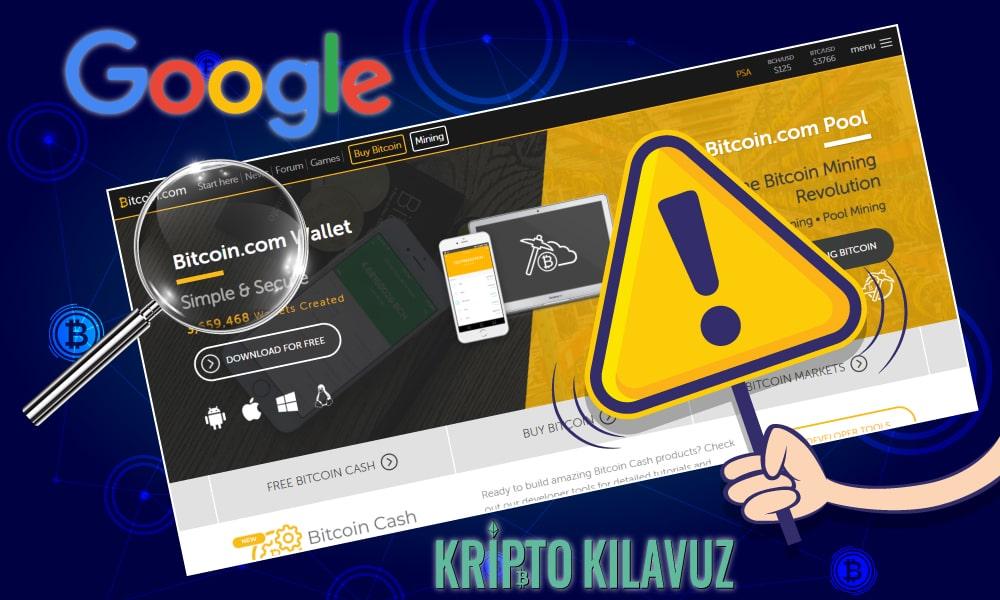 Google, Bitcoin.com'ı Uyarıyor Bitcoin.com Hükümet Destekli Saldırılar Altında Olabilir!